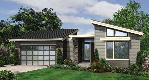 Planos de una casa moderna de dos niveles, tres baños completos