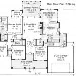 Planos de una casa rural grande en una sola planta-1