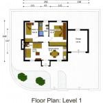 Plano de departamento de dimensiones pequeñas-1