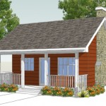 Planos de casa ecologica de campo o playa
