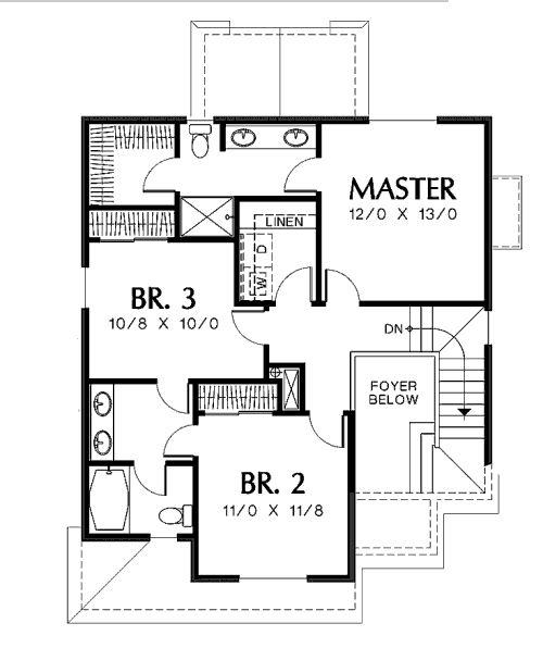 Planos planos de departamento de dos niveles tres for Planos de casas de dos dormitorios