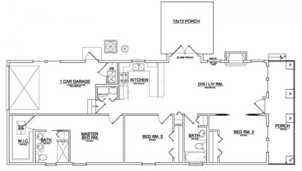 Planos de casa peque a 1 for Niveles en planos arquitectonicos