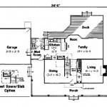 Planos de casa de campo de 3 dormitorios, dos baños, dos niveles y garaje-1
