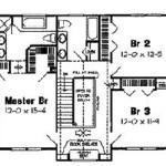 Planos de casa de campo de 3 dormitorios, dos baños, dos niveles y garaje-2