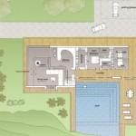 Planos de casa costera de dos niveles, tres dormitorios1
