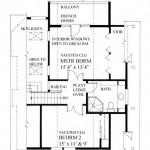 Planos de casa de campo de 2 niveles de tres dormitorios, sin garaje2