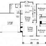 Planos de casa de campo de dos niveles, dos baños, tres dormitorios y un garaje1