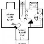 Planos de casa de campo de dos niveles, dos baños, tres dormitorios y un garaje2