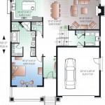 Planos de casa de campo de dos niveles1