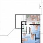 Planos de casa de campo de dos niveles2