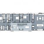 Planos de casa contemporánea de un nivel, tres baños, tres dormitorios, sin garaje1
