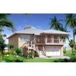 Planos de casa costera de dos nivele