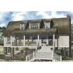 Planos de casa cottage de dos niveles