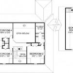 Planos de casa de campo de cuatro dormitorios, dos niveles2