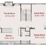 Planos de casa de campo de dos niveles, cuatro dormitorios1