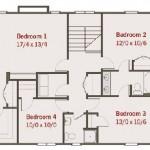 Planos de casa de campo de dos niveles, cuatro dormitorios2