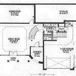 Planos de casa española de dos niveles, cuatro dormitorios, tres baños y un garaje2