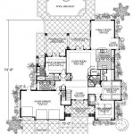 Planos de casa mediterránea de dos niveles1
