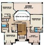 Planos de casa mediterránea de tres niveles2