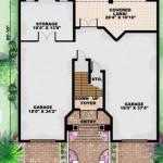 Planos de casa mediterránea de tres niveles3
