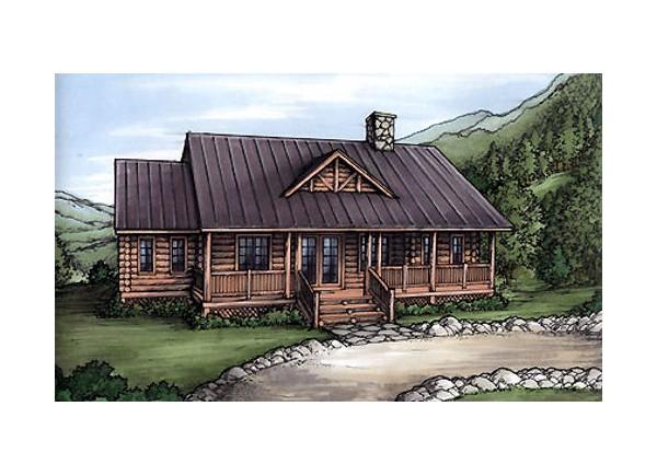 Diseno De Baño Rural:Planos de casa rural de un nivel, tres dormitorios, dos baños, sin