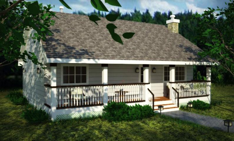Planos de casa de campo de un nivel dos dormitorios un for Planos de casas de campo de un piso