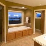 Planos de casa de lujo de dos niveles, tres dormitorios, dos baños, un garaje1