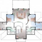 Planos de casa de playa de tres niveles, cuatro dormitorios, tres baños, un garaje3