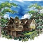 Planos de casa tradicional de dos niveles, tres dormitorios, dos baños y un garaje