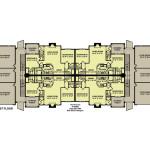 Planos de edificio de dos niveles, 8 departamentos1