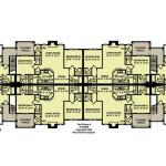 Planos de edificio de dos niveles, 8 departamentos2