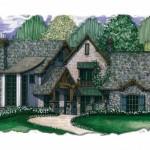 Planos de mansión de dos niveles