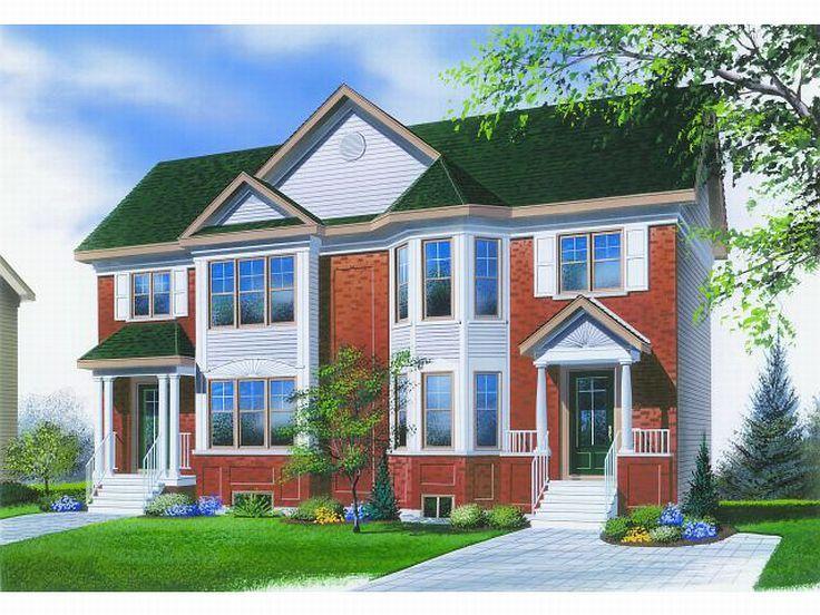 Planos de casa dúplex de dos niveles, cinco dormitorios