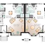 Planos de casa dúplex de dos niveles, cinco dormitorios1