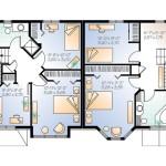 Planos de casa dúplex de dos niveles, cinco dormitorios2