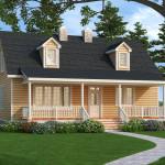 Planos de casa ecológica de dos niveles