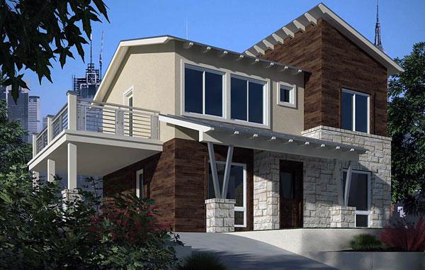Planos De Casa Moderna De Dos Niveles Dos Baños Tres