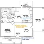 Planos de casa moderna de dos niveles, tres dormitorios1