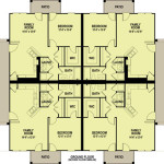 Planos de departamentos de dos niveles, 8 dormitorios1