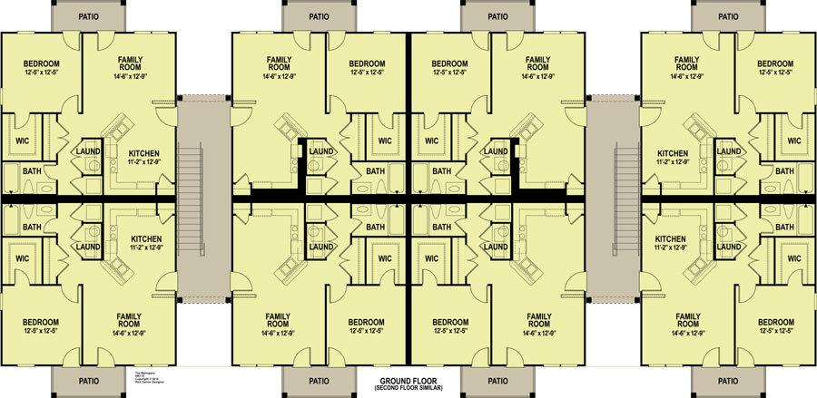 Planos de departamentos imagui for Edificio de departamentos planos