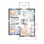 Planos de edificio de tres niveles, seis dormitorios2