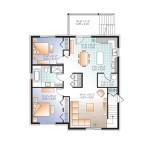 Planos de edificio de tres niveles, seis dormitorios3