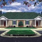 Planos de edificio de un solo nivel, seis dormitorios, cuatro baños, sin garaje
