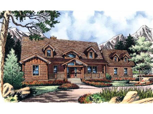 Planos de cabaña de dos niveles, tres dormitorios, dos baños, un garaje