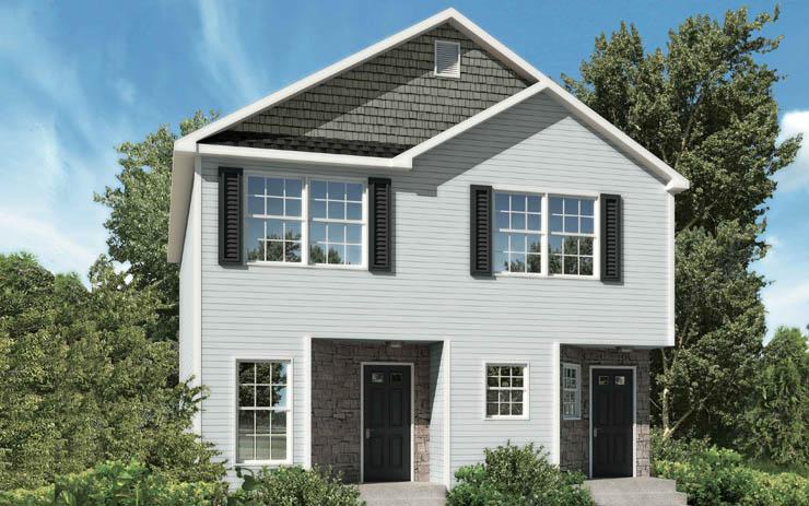 Planos de casa dúplex de dos niveles, cuatro dormitorios, tres baños