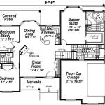 Planos de casa rural de un solo nivel, tres dormitorios, dos baños y un garaje1