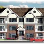 Planos de edificio de dos niveles, 16 dormitorios y 16 baños