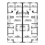 Planos de casa dúplex de dos niveles2