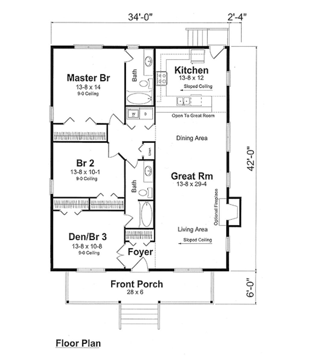 Planos de casa de madera de un solo nivel tres dormitorios - Planos casa de madera ...