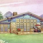 Planos de casa ecológica de un nivel